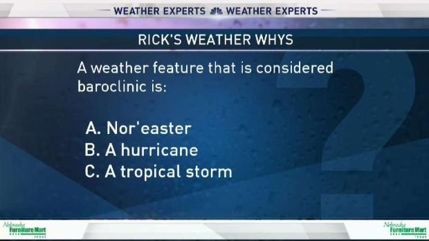 [DFW] Weather Quiz: Baroclinic Weather Feature