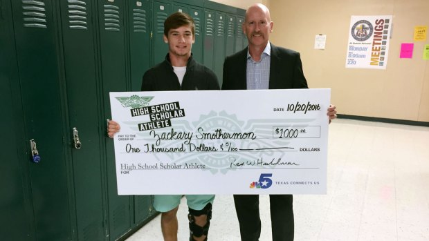 October's Wingstop Scholar Athlete - Zackary Smothermon