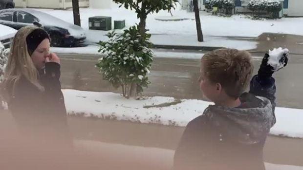 Slow-mo Snowball