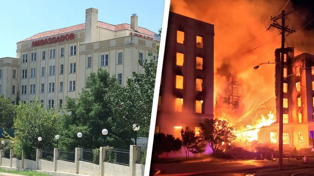 Look Back: Restoration Underway as Fire Destroys Ambassador