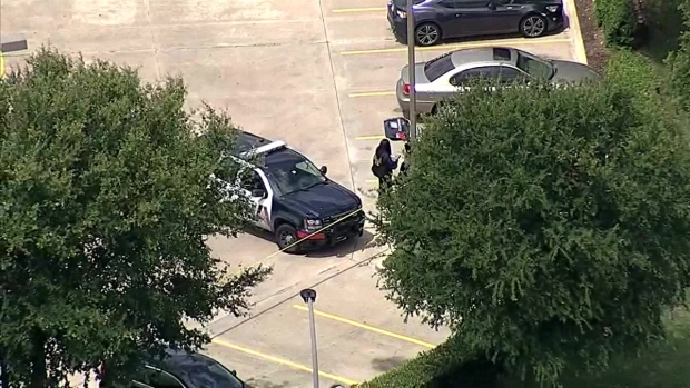 Aerial View of Deadly Shooting at Walgreens in Arlington