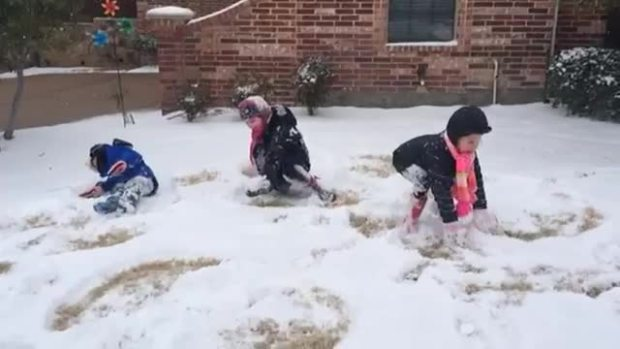 Snow fun in Allen!