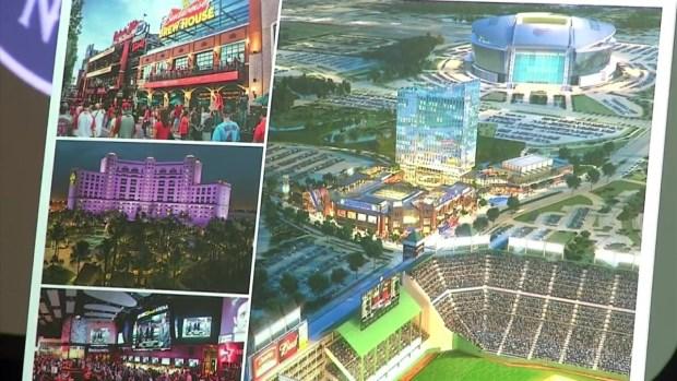 Artist Renderings of Rangers/Arlington Development Deal (Raw Video)