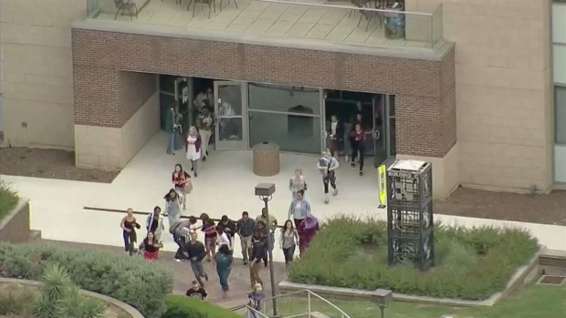 Active Shooter Reported at North Lake College (Aerial)