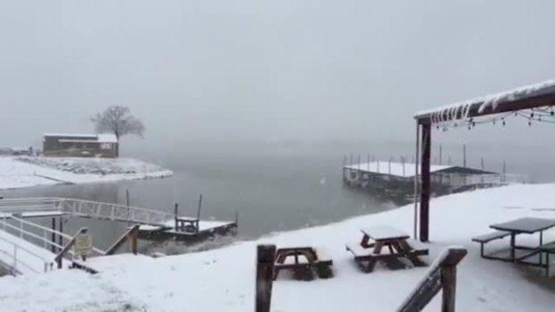 Lake fork snow