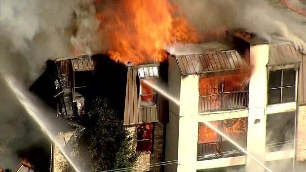 Fire Consumes Lake Highlands Condos: Raw Video