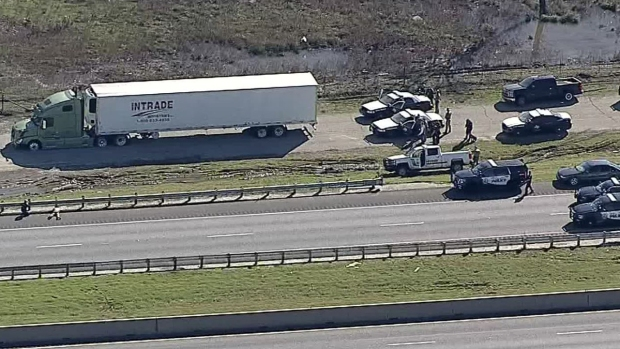 Man Barricades Himself Inside Stolen Big Rig After Chase: DPS