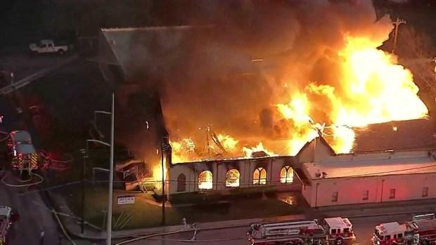 3-Alarm Fire Engulfs Dallas Church
