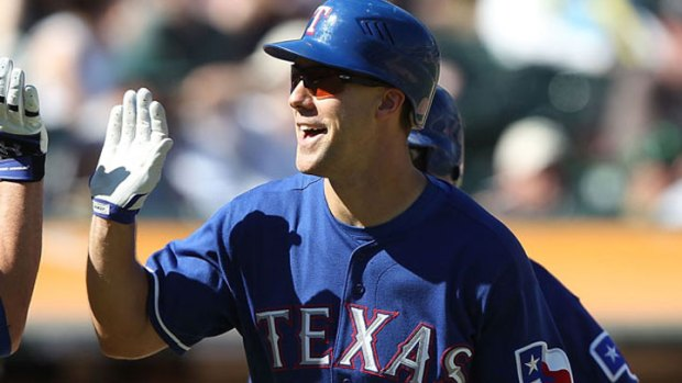 Five Rangers Homer in Win Over Royals