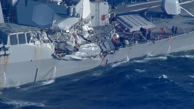 [NATL] Navy Destroyer Collides With Merchant Vessel Off Japan