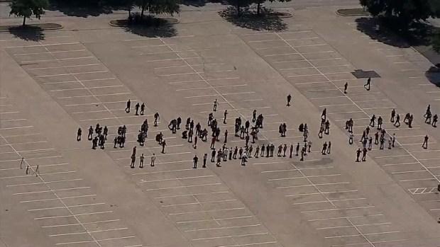 Dallas Police Practice Crowd Control Techniques