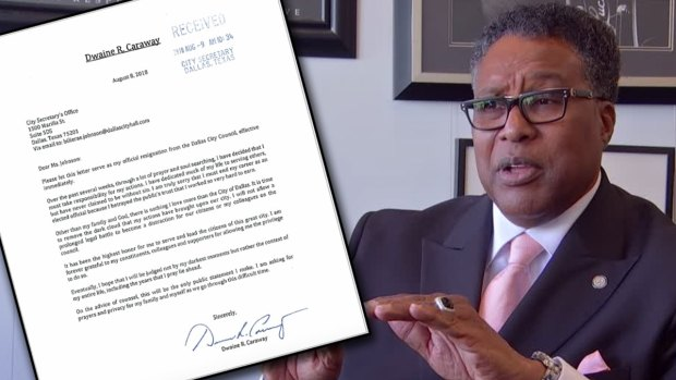 Dwaine Caraway Pens Resignation Letter: 'I Betrayed the Public's Trust'