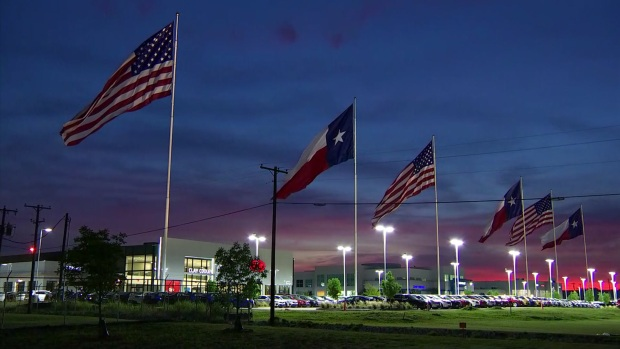 [DFW] Timelapse: Gorgeous Texas Sunrise on Flag Day