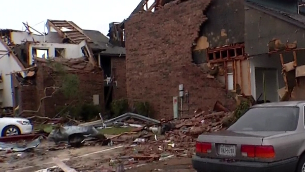 Residents Return to Garland Apartments After Tornado