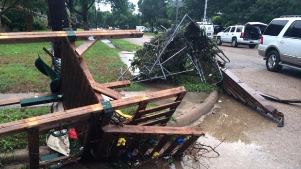Duck Creek Floods, Damages Garland Neighborhood