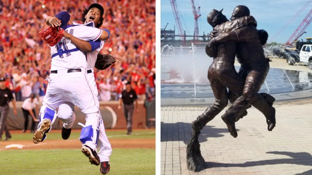 Arlington, Rangers Reveal 'Going to the Show' Statue Outside New Ballpark, Texas Live