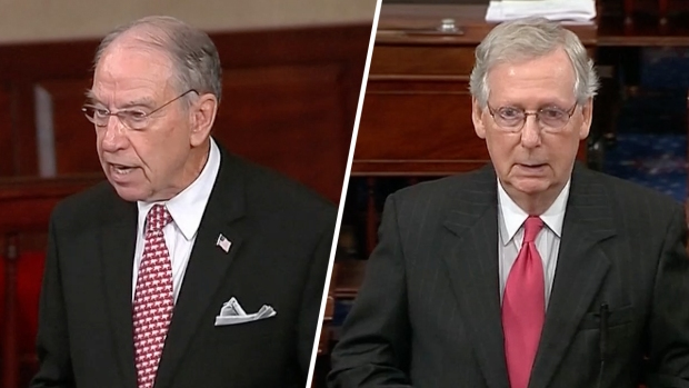 [NATL] 'Mob Rule': Grassley, McConnell Pitch Kavanaugh Nomination Before Final Vote