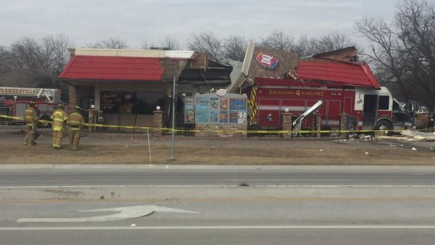 Fire Truck Slams Into Collin County Dairy Queen