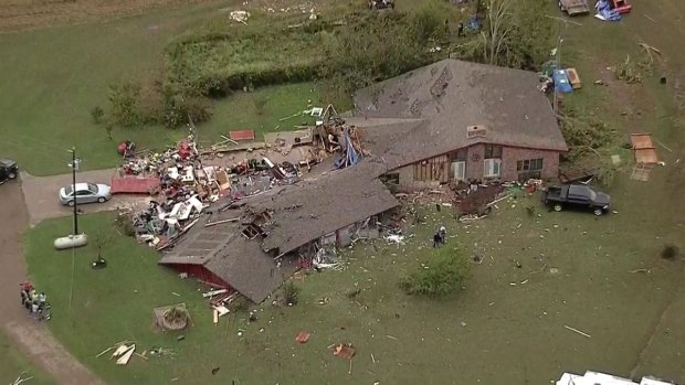 Texas Sky Ranger: Hillsboro Storm Damage