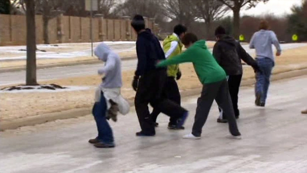 [DFW] Side Streets Remain Icy Mess