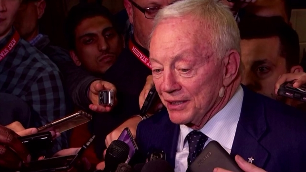 Trump commends Dallas Cowboys owner, Jerry Jones for warning players