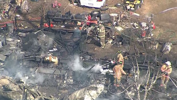 [DFW] Mobile Home in Justin Destroyed by Fire
