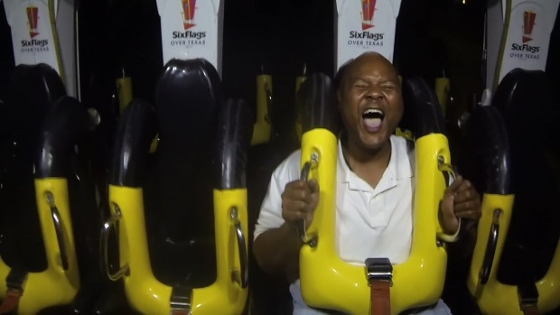 [DFW] NBC 5 Cameraman Tests Out New Six Flags Coaster