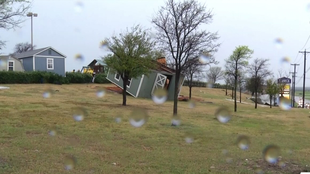 Storms Damage Northwest Tarrant County