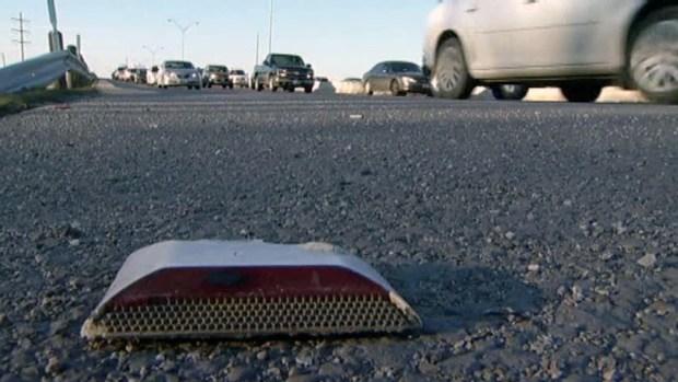 [DFW] Lane Reflectors Left on Roadsides After Plowing