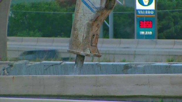 [DFW] 76-Ton Concrete Beam Falls Onto LBJ Freeway