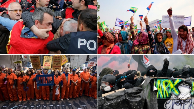 [NATL] Workers, Activists Rally for May Day Around the World