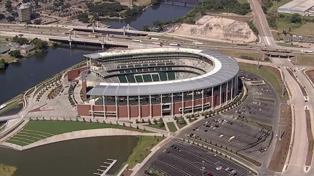 Raw Video: Chopper 5 Over McLane Stadium