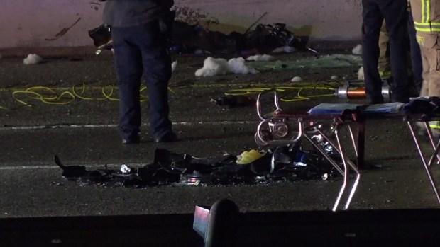 Raw: Deadly Wrong-Way Crash Closes LBJ Freeway