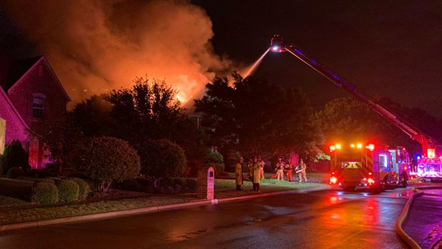 [DFW] Lightning Likely the Cause of a House Fire in Keller Wednesday Morning