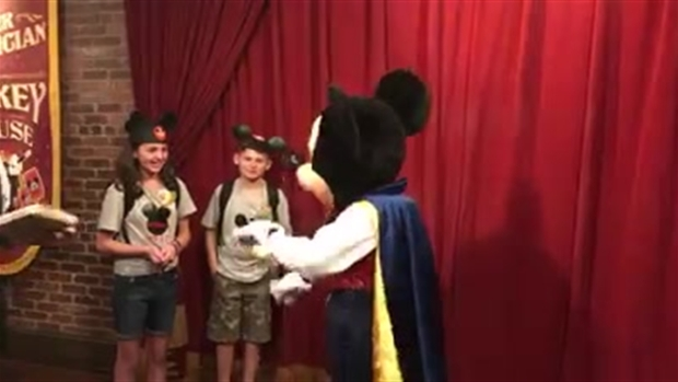 [NATL] WATCH: Mickey Mouse Reveals Adoption Date to Foster Kids