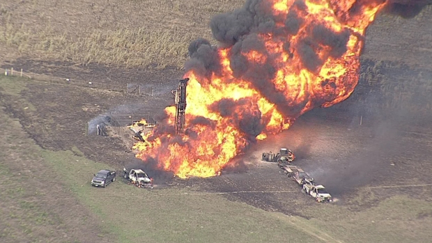 [DFW] Milford Pipeline Fire May Burn for 36 Hours