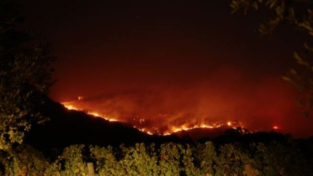 [PHOTOS] Wildfire Burns in Pope Valley Area of Napa County