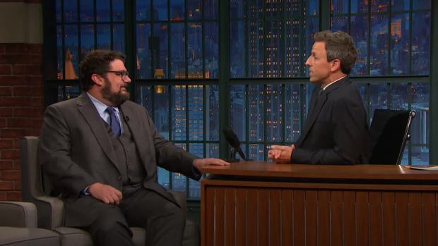[NATL] 'Late Night': Bobby Moynihan Reveals the Story Behind 'David S. Pumpkins'