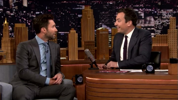 [NATL] 'Tonight Show': Adam Levine Talks Teaming Up With Blake Shelton