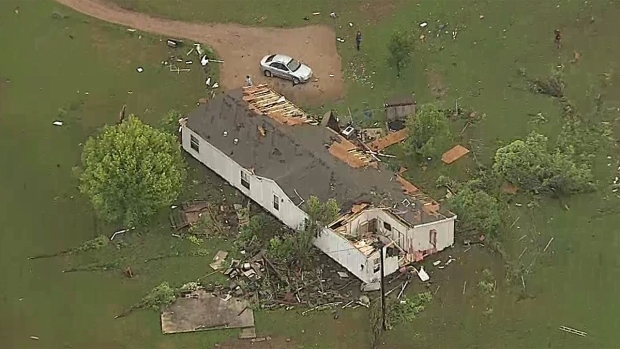 Tornado Damages Homes in