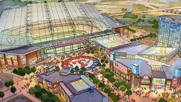 Texas Rangers unveil plans, design for $1 billion retractable-roof stadium