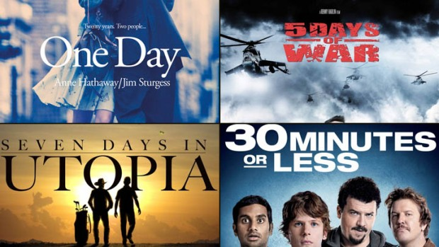 "New on Home Video: ""One Day"", ""5 Days of War"", ""7 Days in Utopia"", ""30 Minutes or Less"" & More"