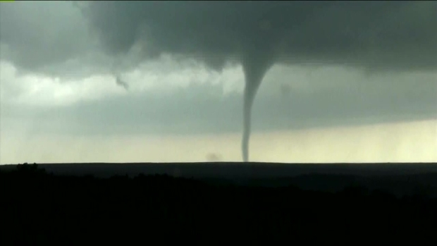 Raw Video: Storm Chaser Captures Texas Panhandle Tornado