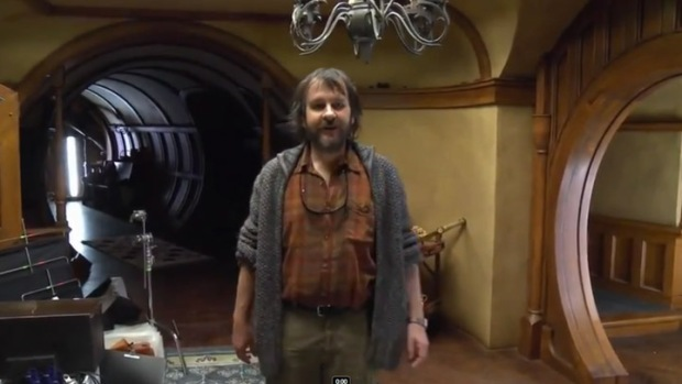 "Peter Jackson Vlogging From the Set of ""The Hobbit"""