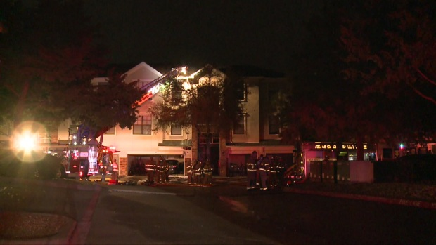 [DFW] Raw Video: Fire Forces Dozens From Plano Apartments Overnight