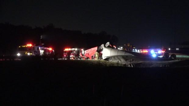 Deadly 18-Wheeler Crash Closes 121 Ramp in Grapevine