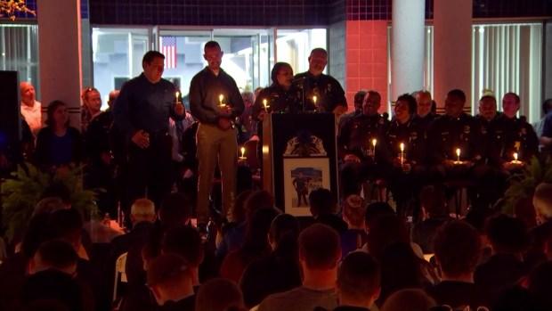 [DFW] Raw: Police Officials, Mayor Lead Vigil for Fallen Dallas Officer