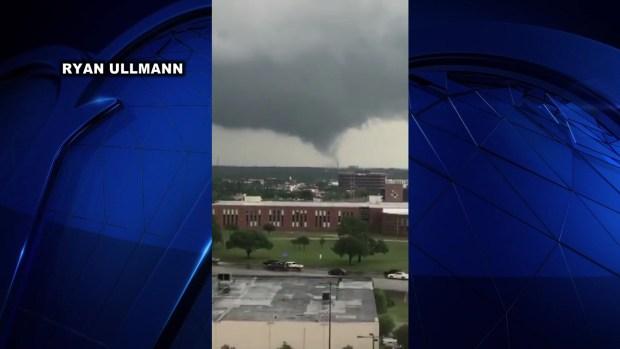 [DFW] Watch: Tornado Cuts Through Central Texas Town