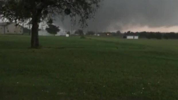 RAW: Tornado Strikes Near Decatur