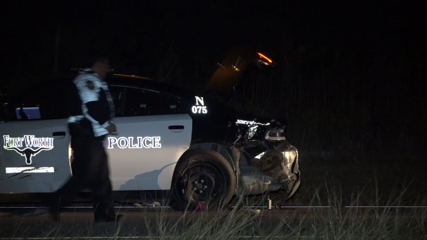 Raw: Fort Worth Police Officer Struck By Car; Driver Arrested